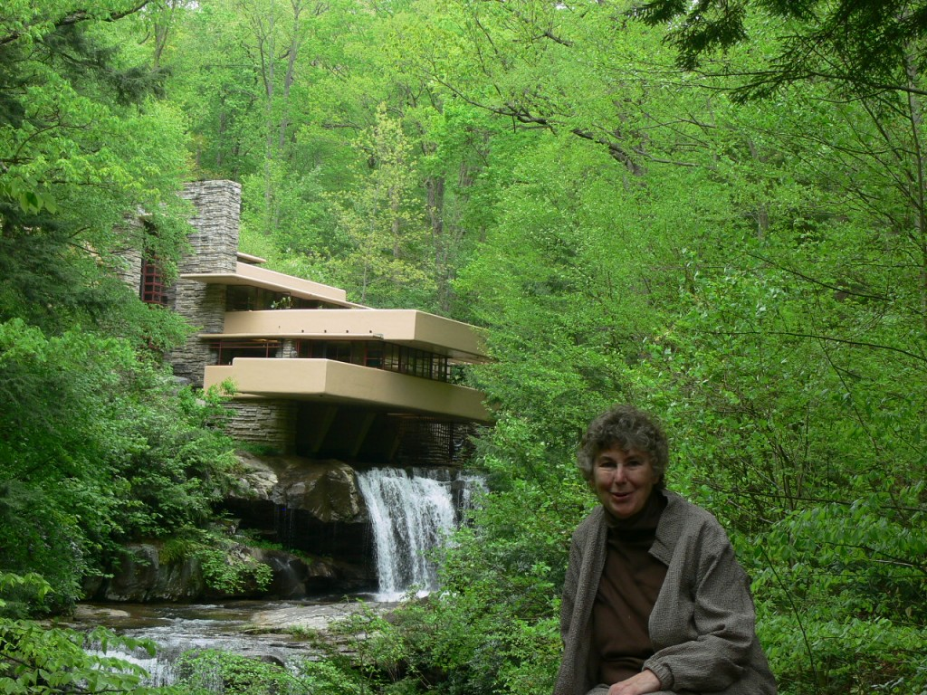 Writer Jackie Craven at Frank Lloyd Wright's Fallingwater